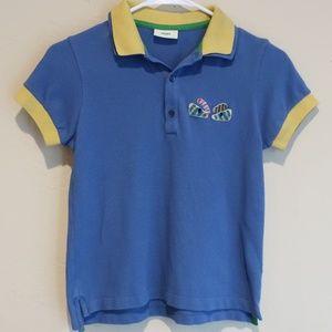 Fendi Boys Monster Eyes Polo Shirt sz 10a